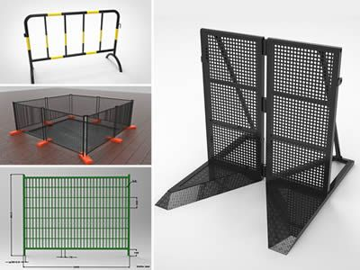 There are four works about crowd control barriers created by our outstanding design team.