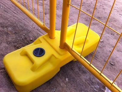 There is a yellow blow plastic foot whose fabrication method is blow moulding.